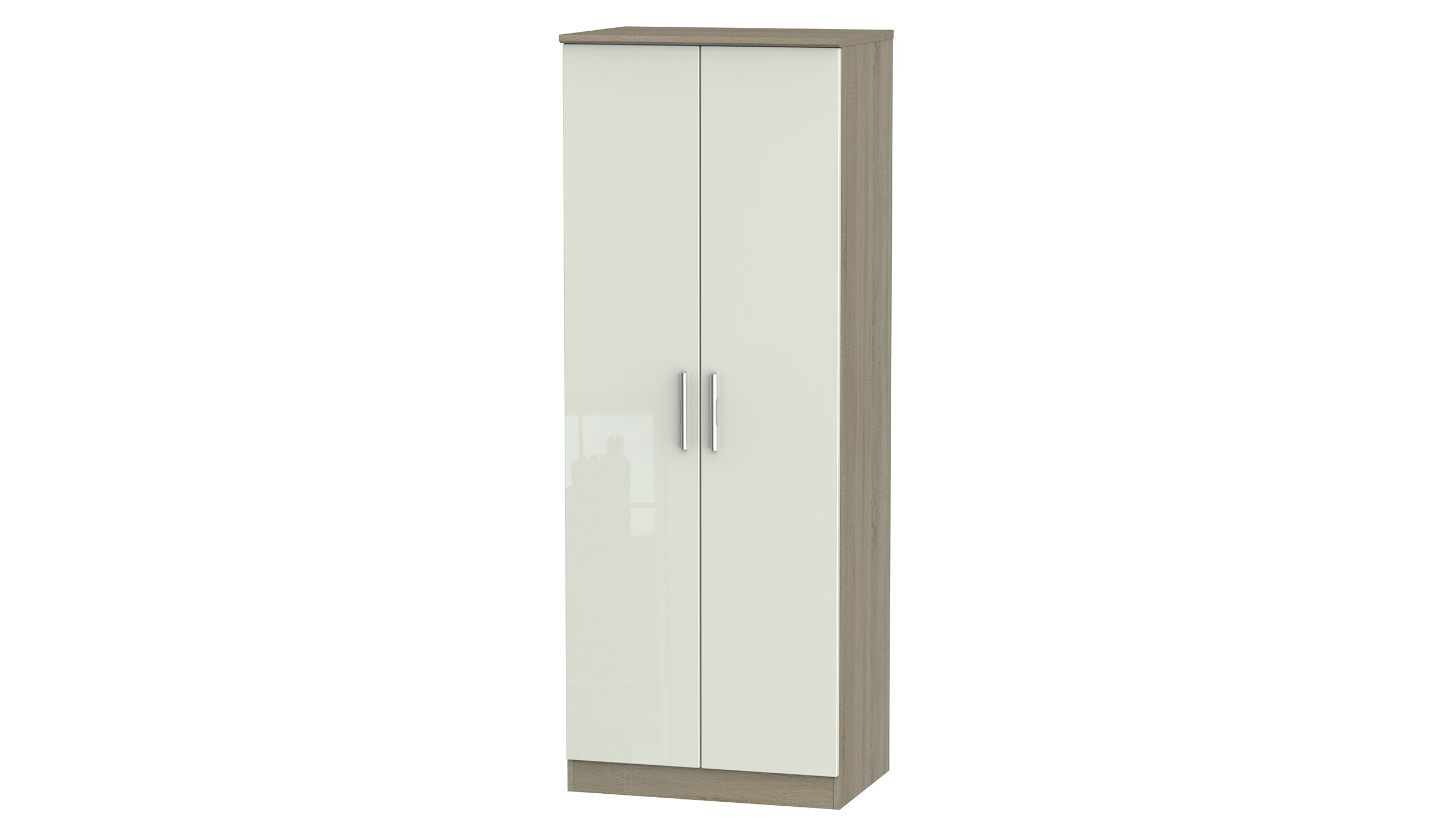 Burnham Tall Double Wardrobe - AHF Furniture & Carpets