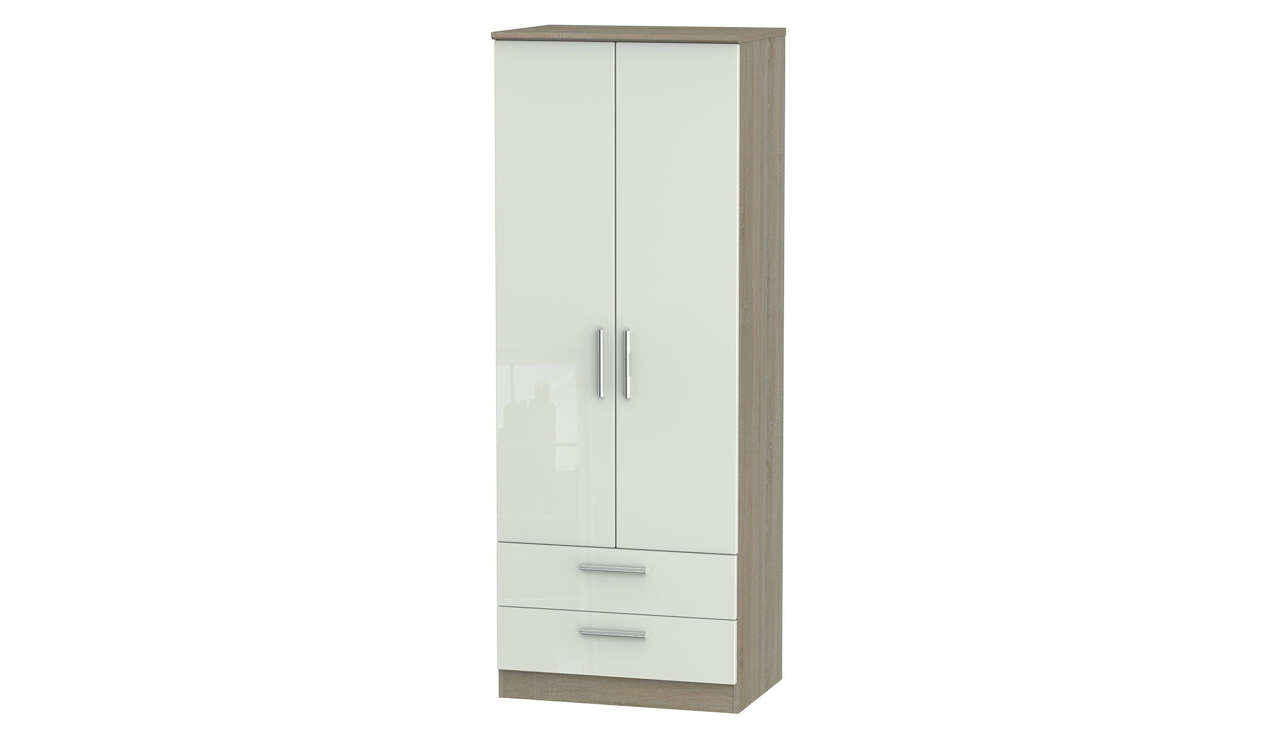 Burnham Tall Double Wardrobe with 2 Drawers - AHF Furniture & Carpets