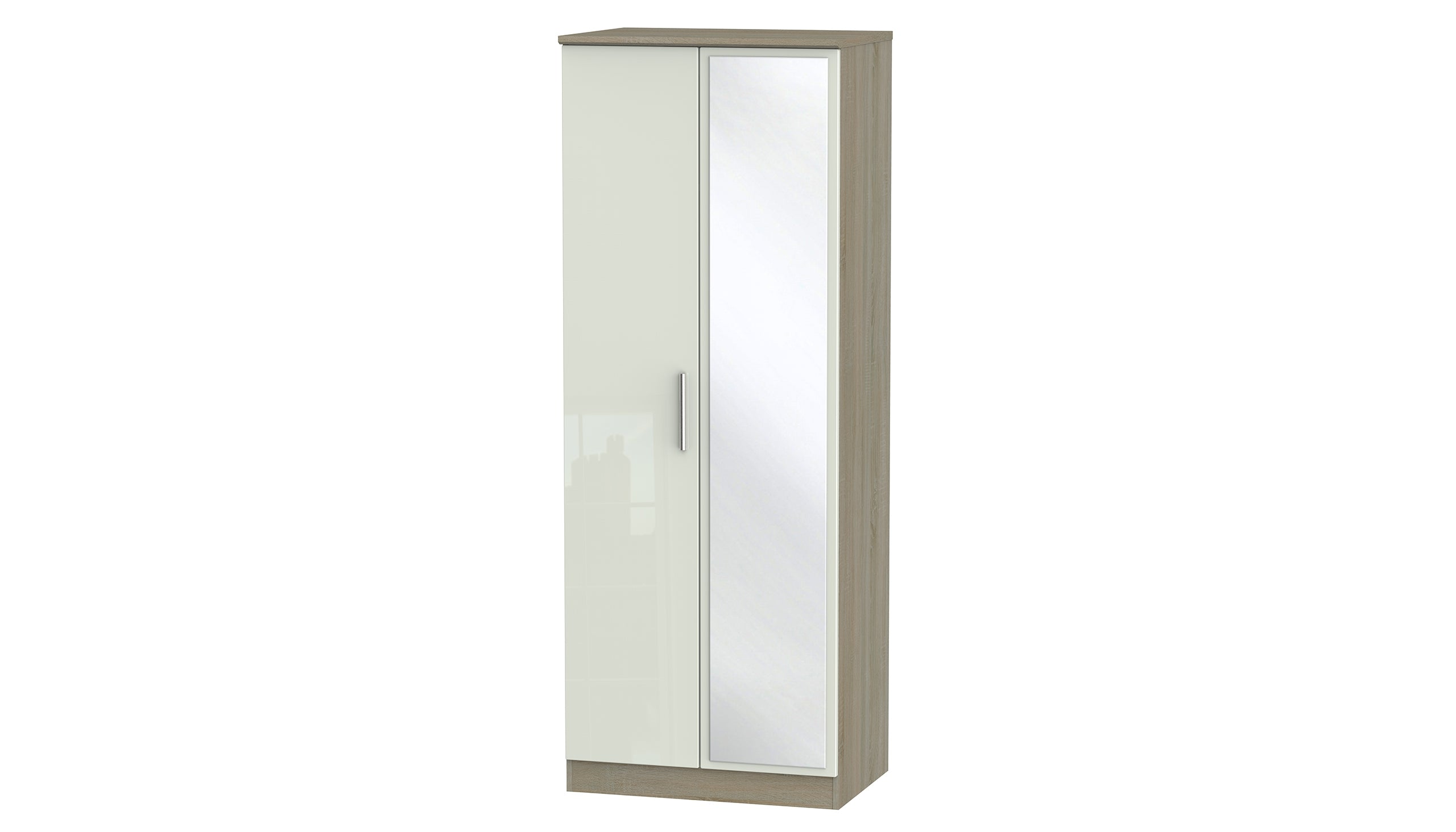 Burnham Tall Double Wardrobe with Mirrors - AHF Furniture & Carpets