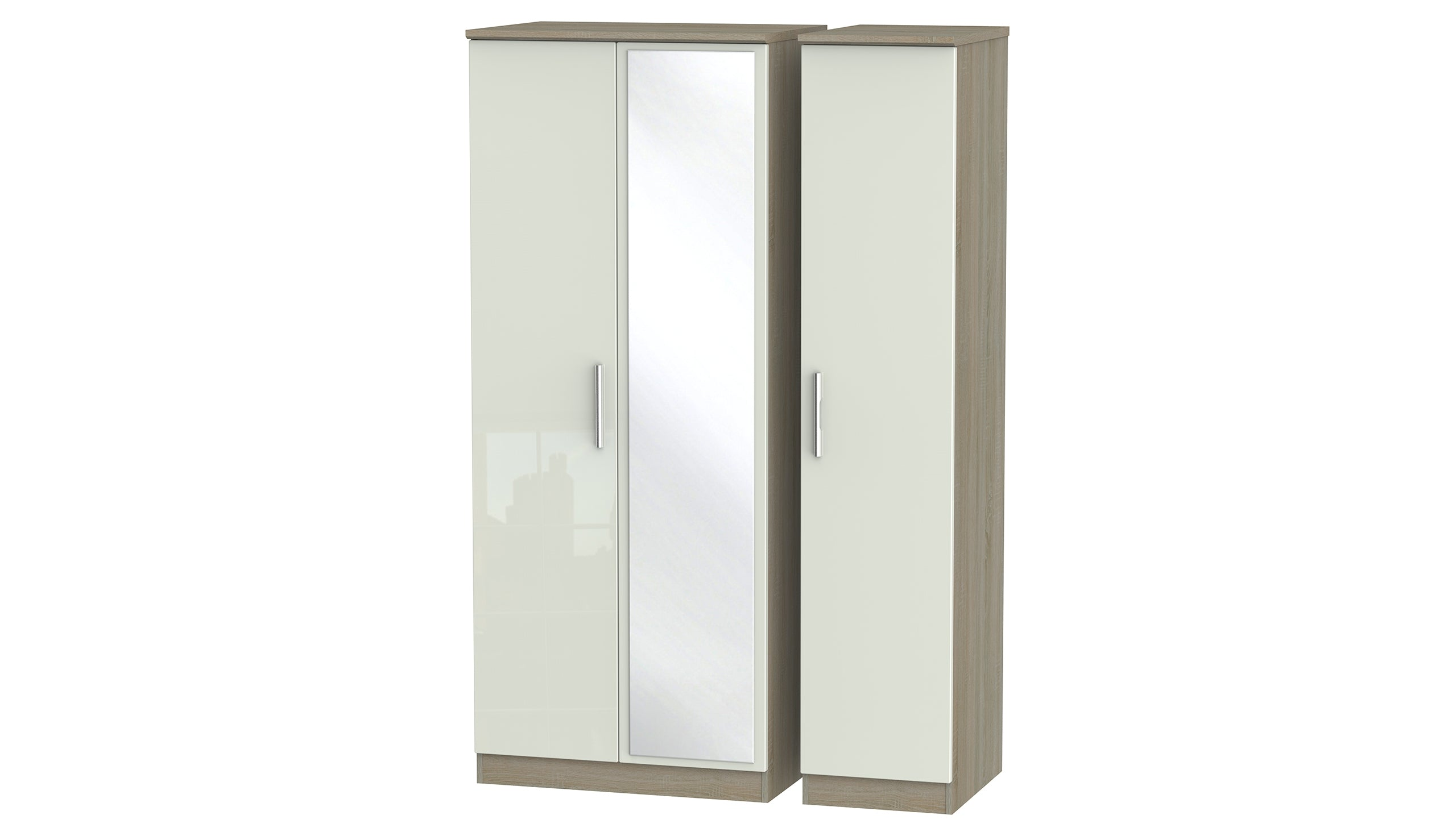 Burnham 3 door mirrored wardrobe - AHF Furniture & Carpets