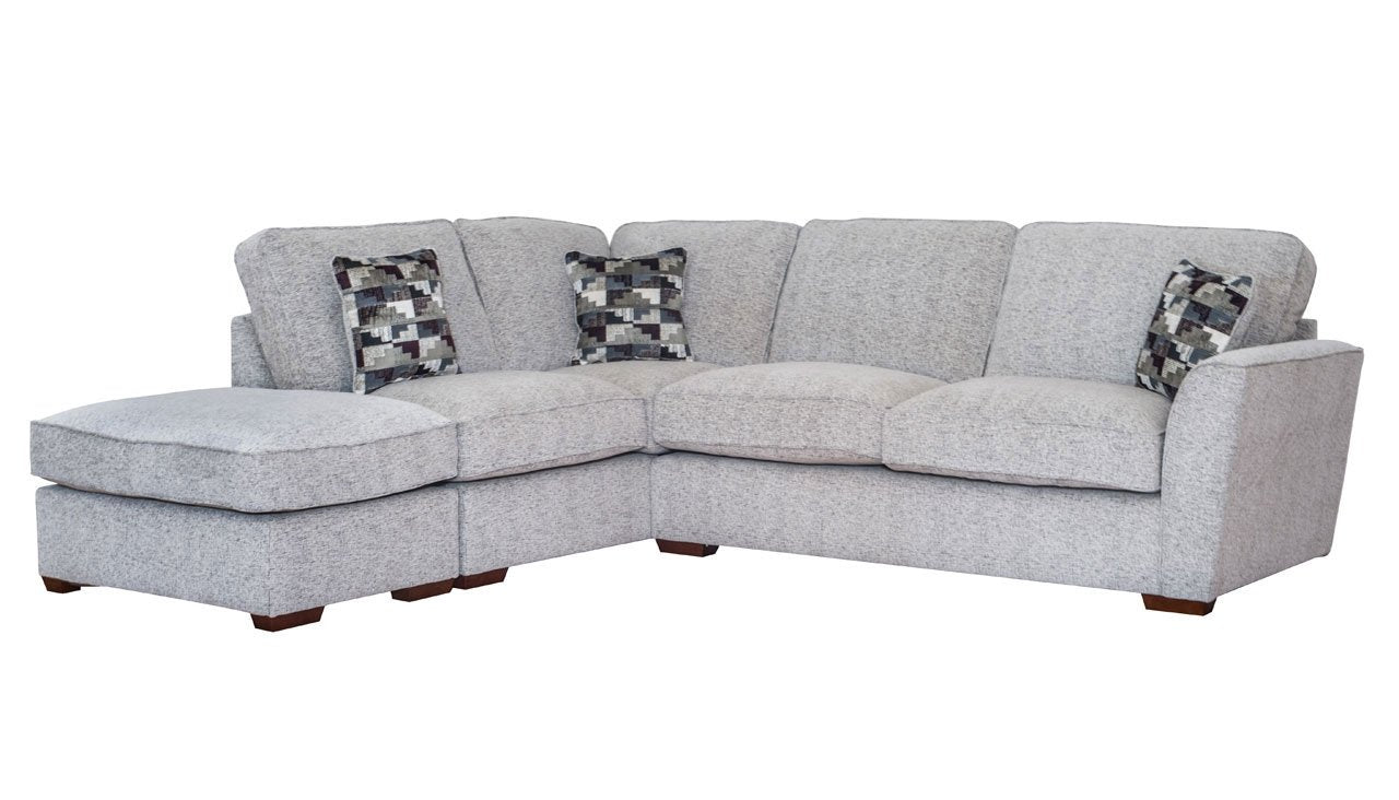 Hepburn Standard Back Right Hand Facing Corner Sofa with Stool