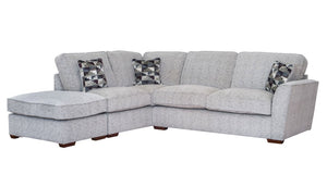 Hepburn Standard Back RHF Corner Sofa with Stool - AHF Furniture & Carpets