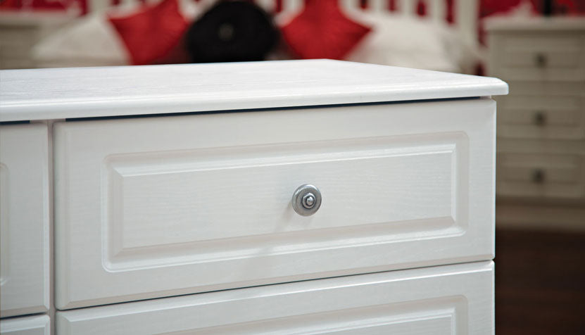 Pembroke 4 drawer bedside table