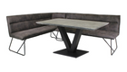 Metro Right Hand Facing Corner Bench and Dining Table Set