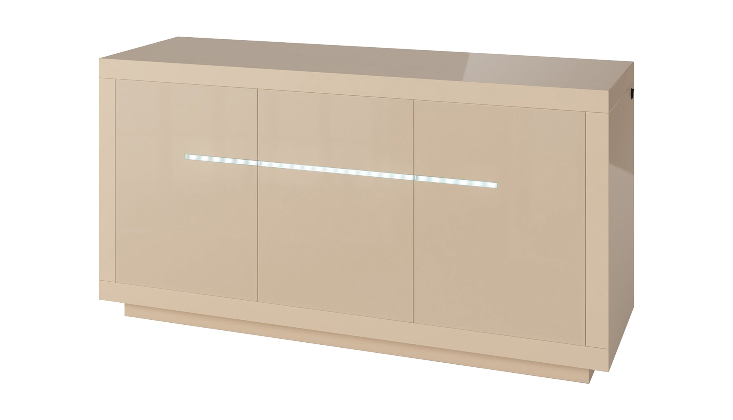 Tokyo 3 Door Sideboard with LED in White - AHF Furniture & Carpets