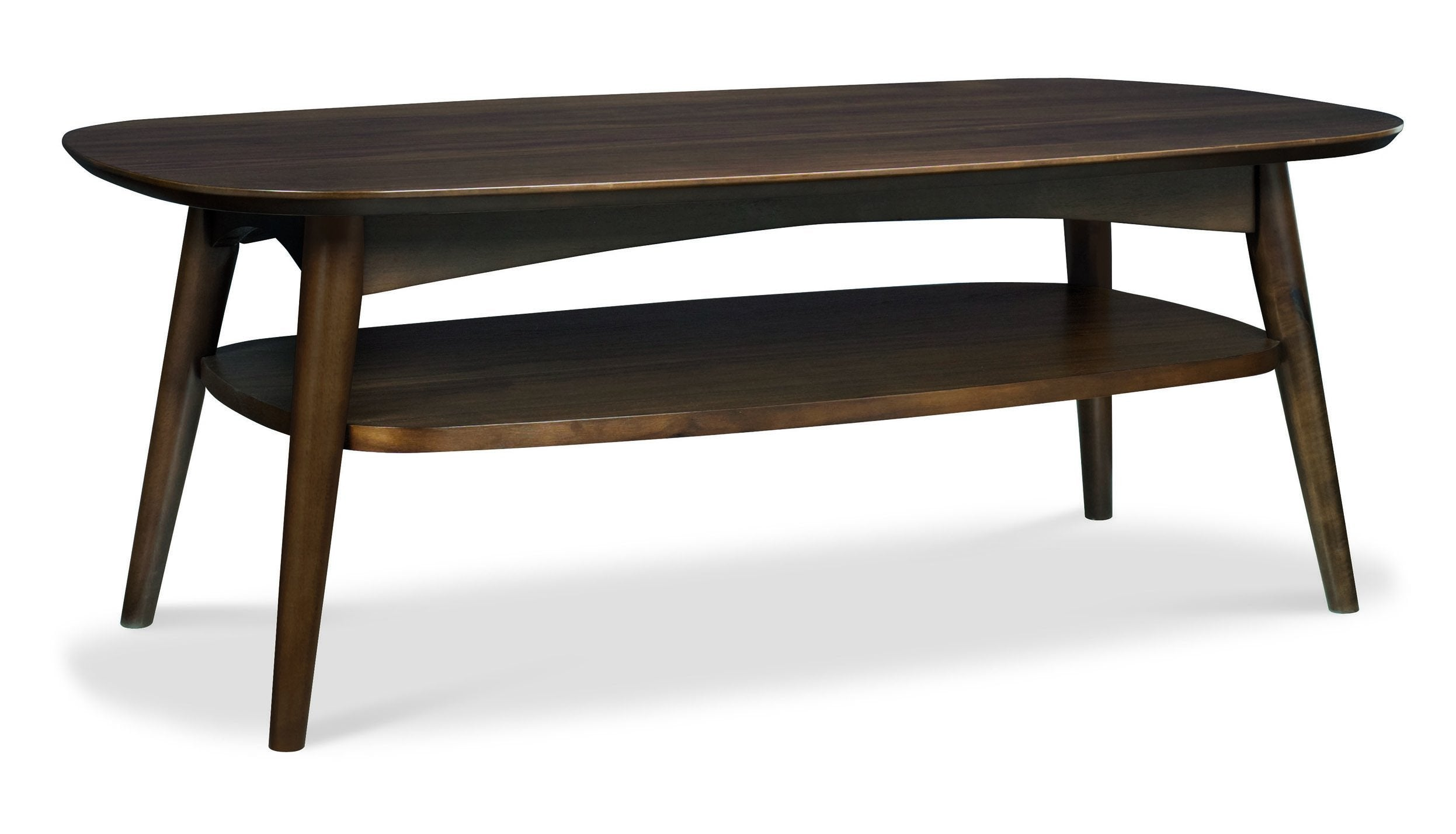 Oslo Walnut Coffee Table with Shelf - AHF Furniture & Carpets
