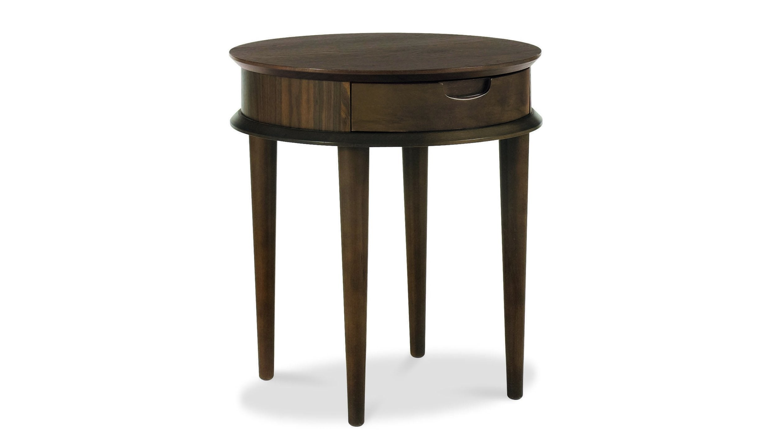 Oslo Walnut Side Table with Drawer - AHF Furniture & Carpets