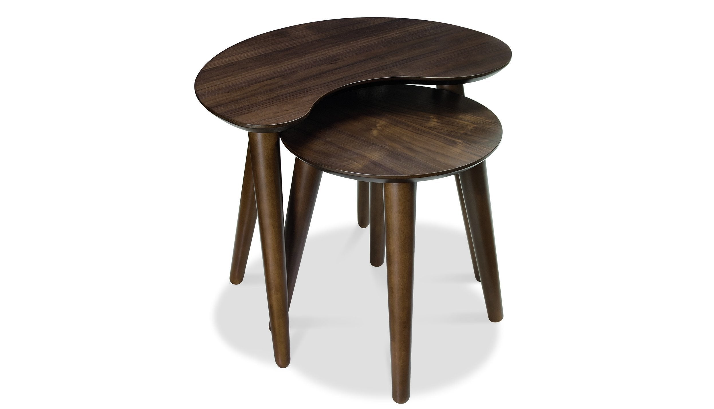 Oslo Walnut Nest of Tables - AHF Furniture & Carpets