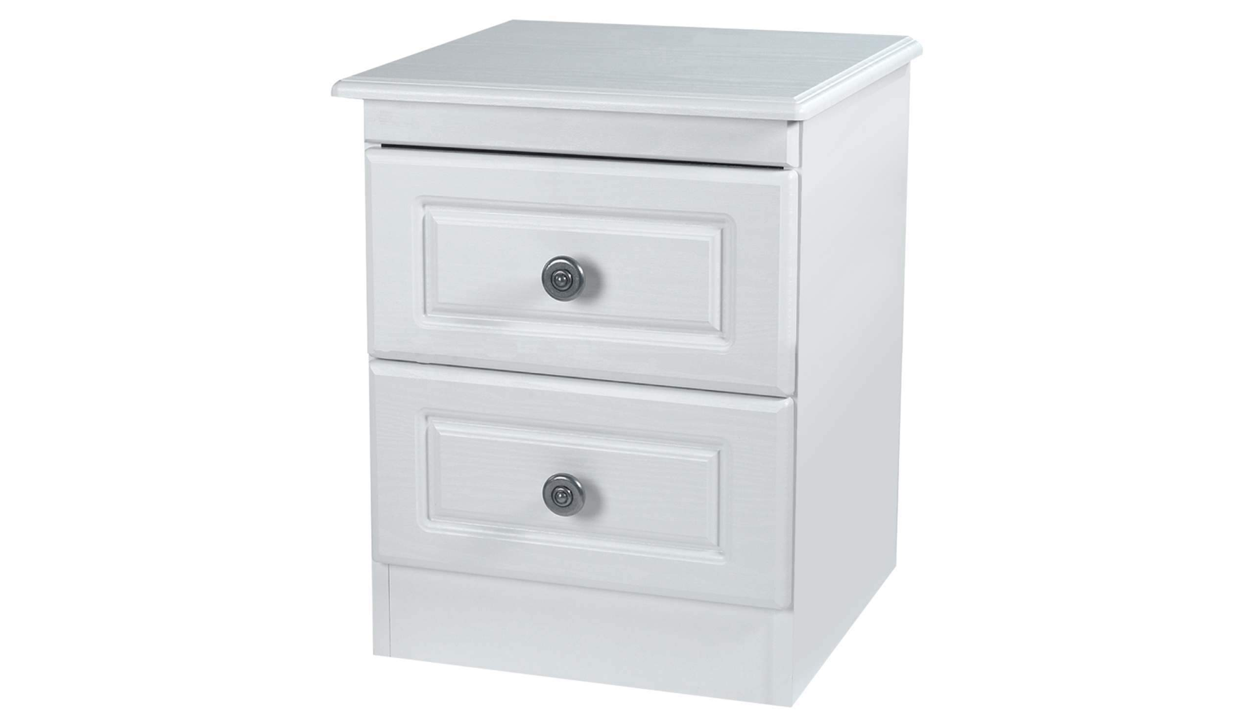 Pembroke 2 drawer bedside table - AHF Furniture & Carpets