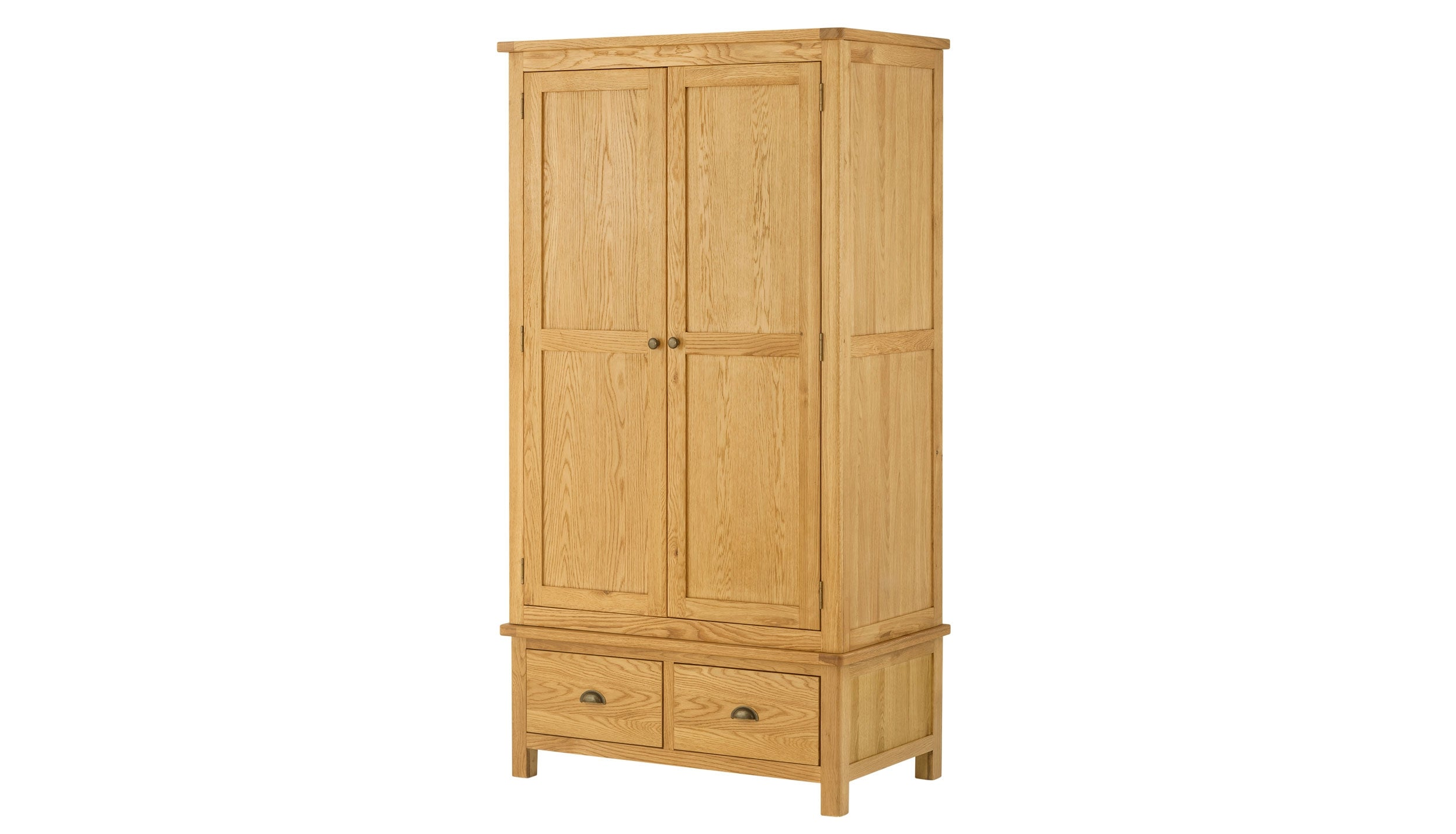 Arlington Oak Gents Wardrobe - AHF Furniture & Carpets