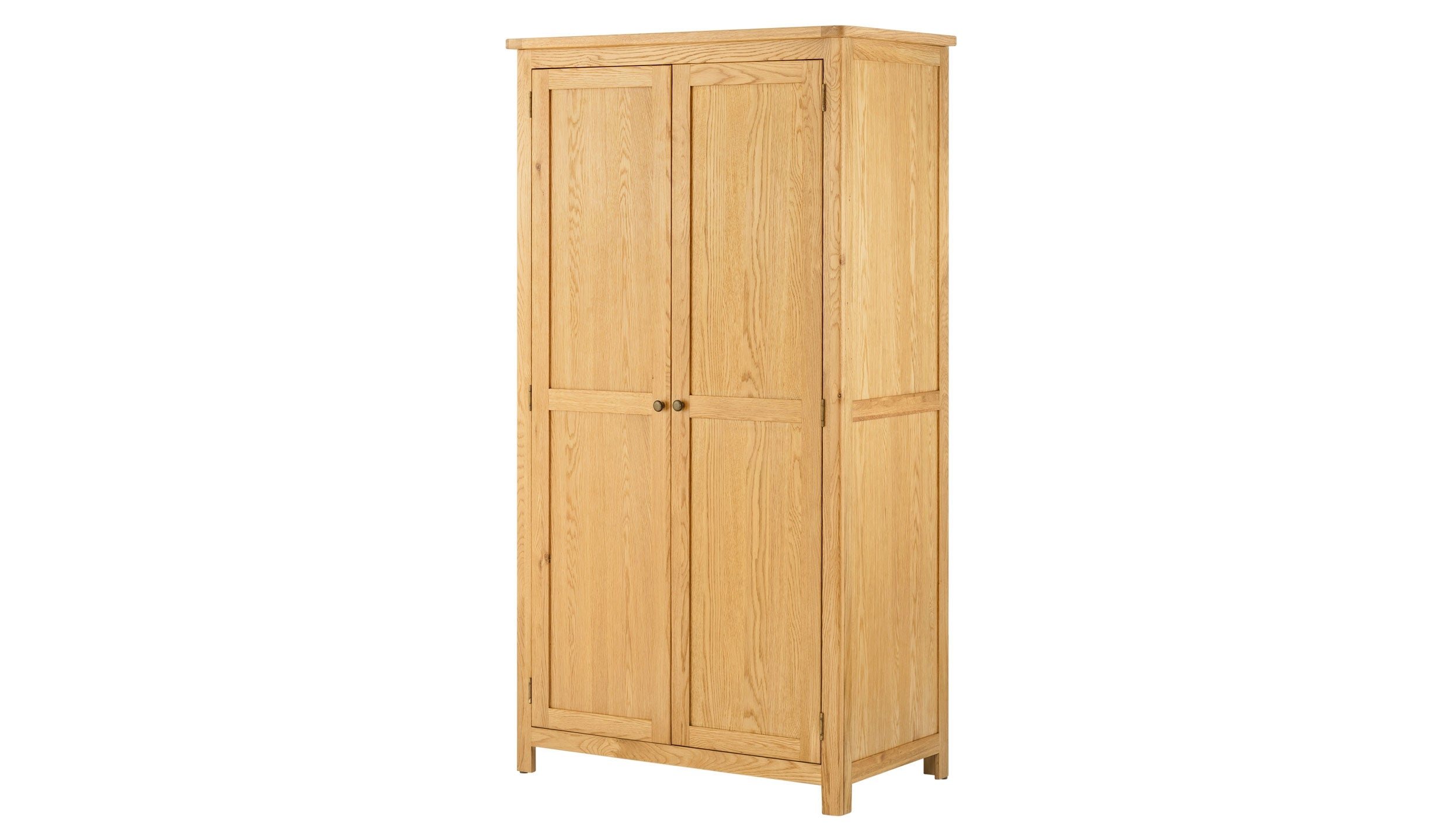 Arlington Oak Double Wardrobe - AHF Furniture & Carpets