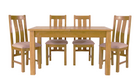 Arlington Oak Extending Dining Table with 4 Chairs - AHF Furniture & Carpets
