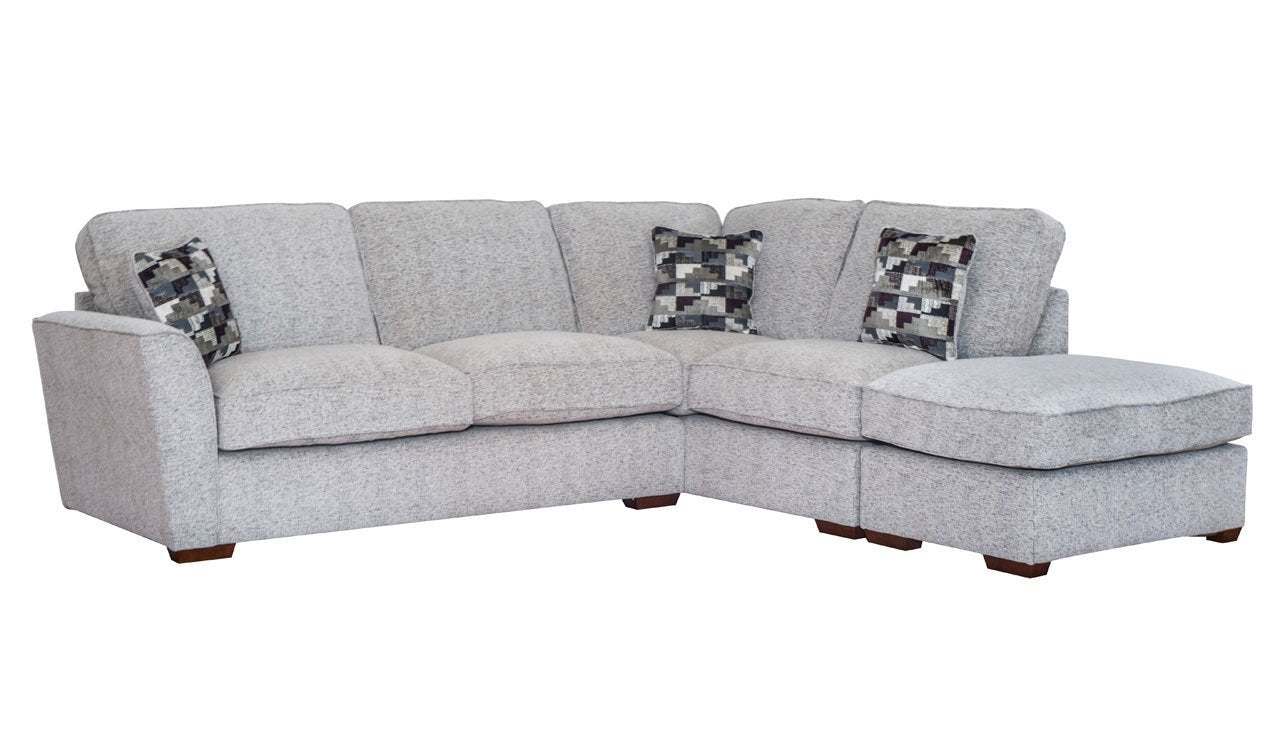 Hepburn Standard Back Left Hand Facing Corner Sofa with Stool
