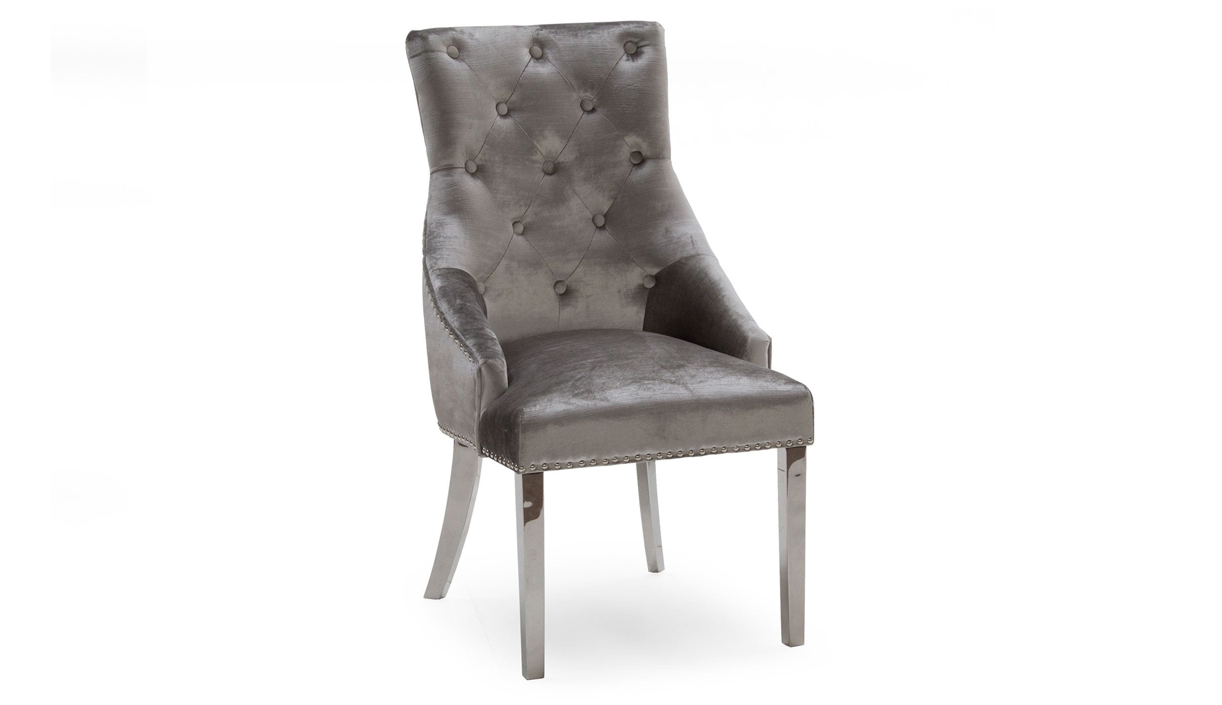 Amour Silver Grey Dining Chair - AHF Furniture & Carpets