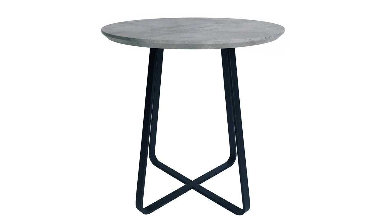 Tetro Concrete Effect Round Wine Table - AHF Furniture & Carpets