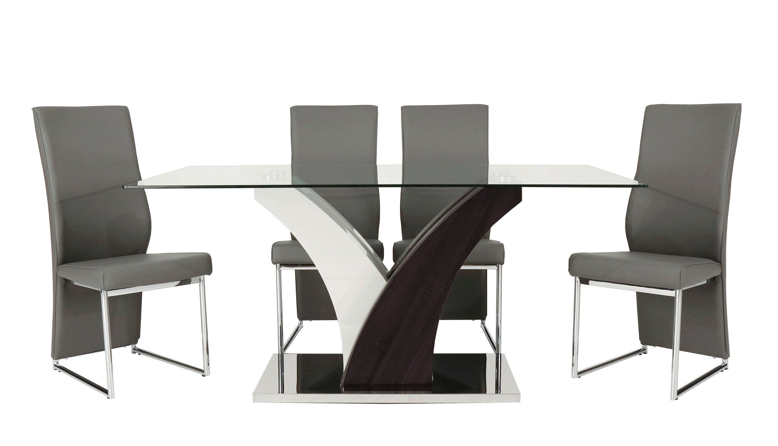 Salvador Dining Table with 4 Salvador Chairs - AHF Furniture & Carpets
