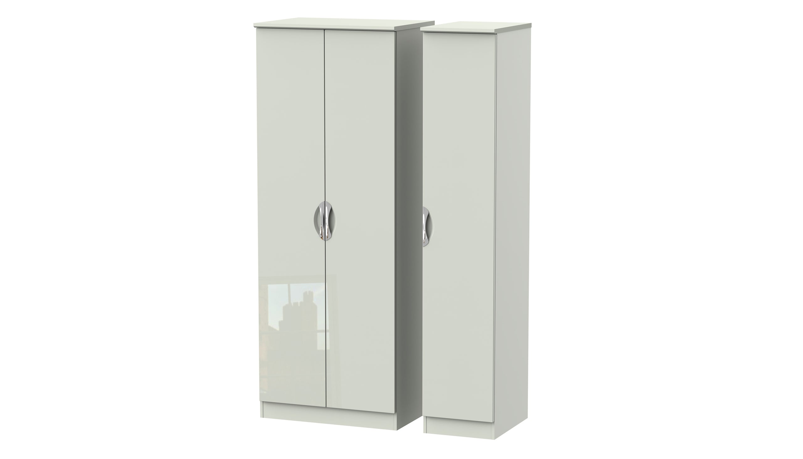 Moda Tall 3 Door Wardrobe - AHF Furniture & Carpets