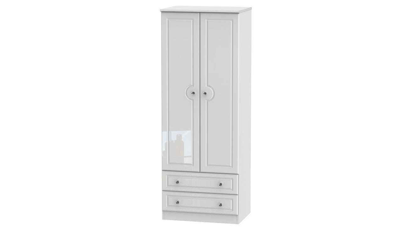 Ferndale Tall Double Wardrobe With 2 Drawers - AHF Furniture & Carpets