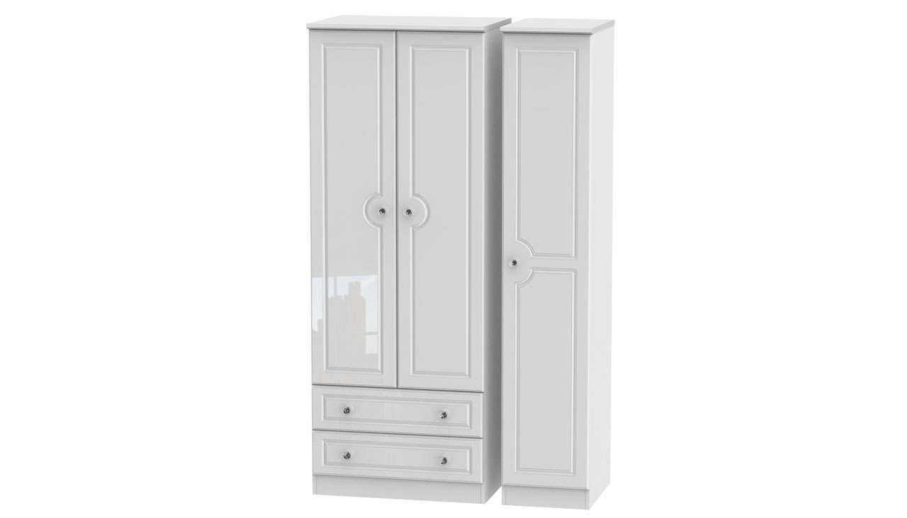 Ferndale Triple Wardrobe With 2 Drawers - AHF Furniture & Carpets
