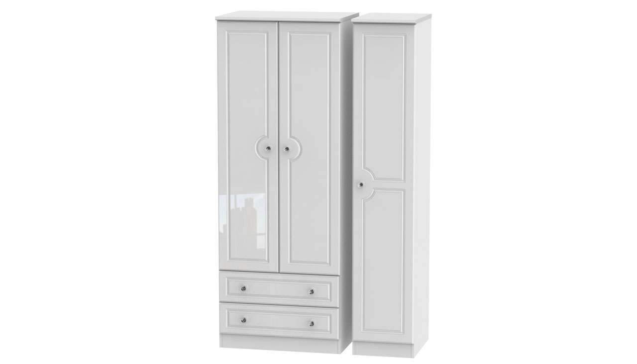 Ferndale Tall Triple Wardrobe With 2 Drawers - AHF Furniture & Carpets