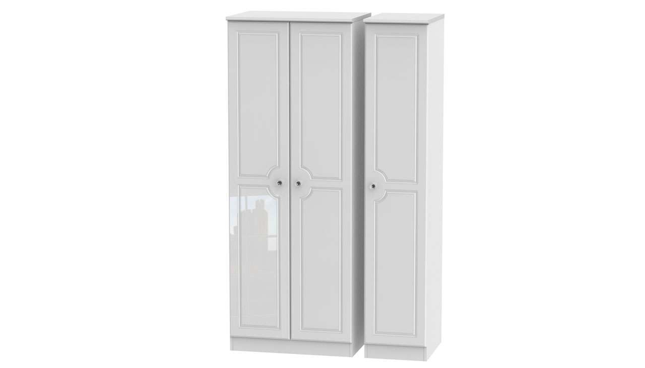 Ferndale Tall Triple Wardrobe - AHF Furniture & Carpets