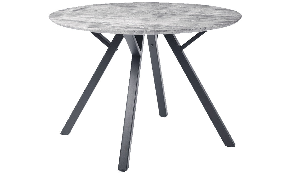 Tetro Round Concrete Effect Dining Table
