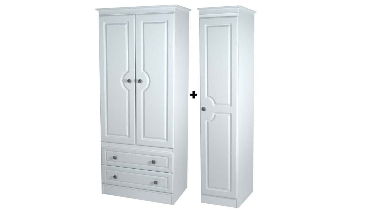 Pembroke 2 Drawer Triple Wardrobe - AHF Furniture & Carpets