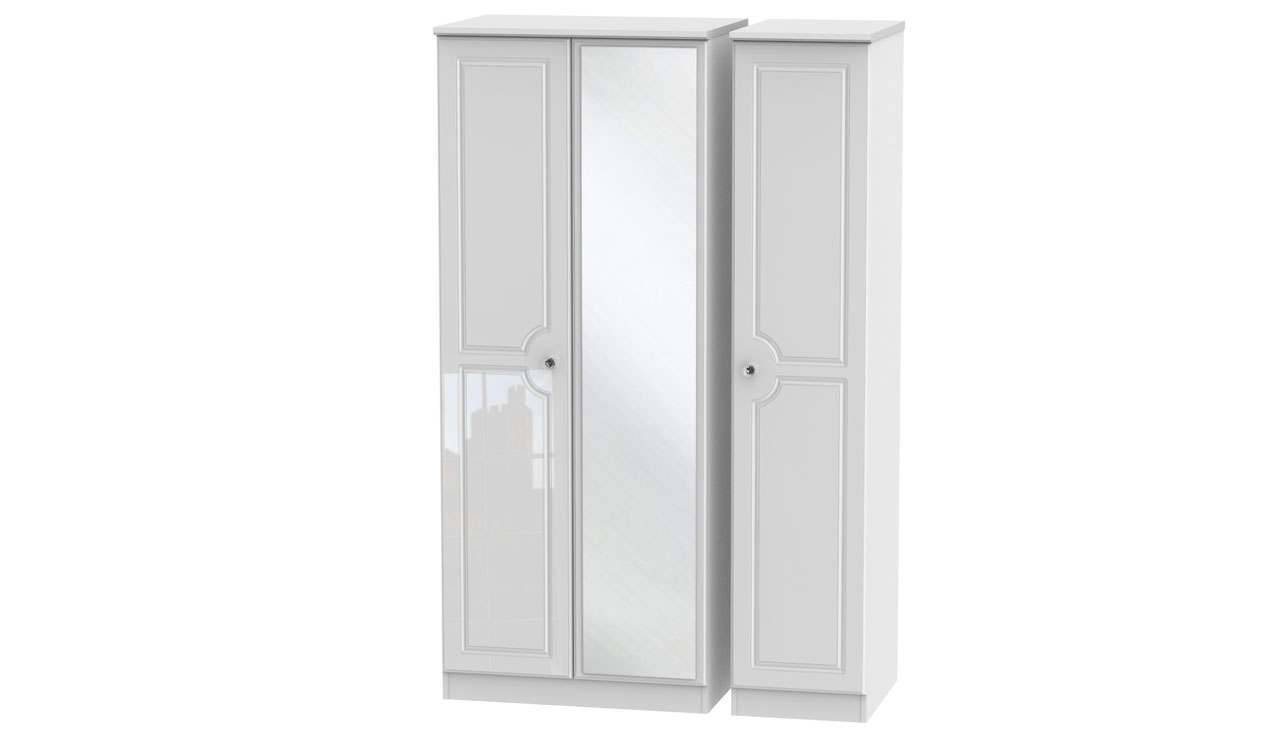 Ferndale Triple Wardrobe With Mirrors - AHF Furniture & Carpets