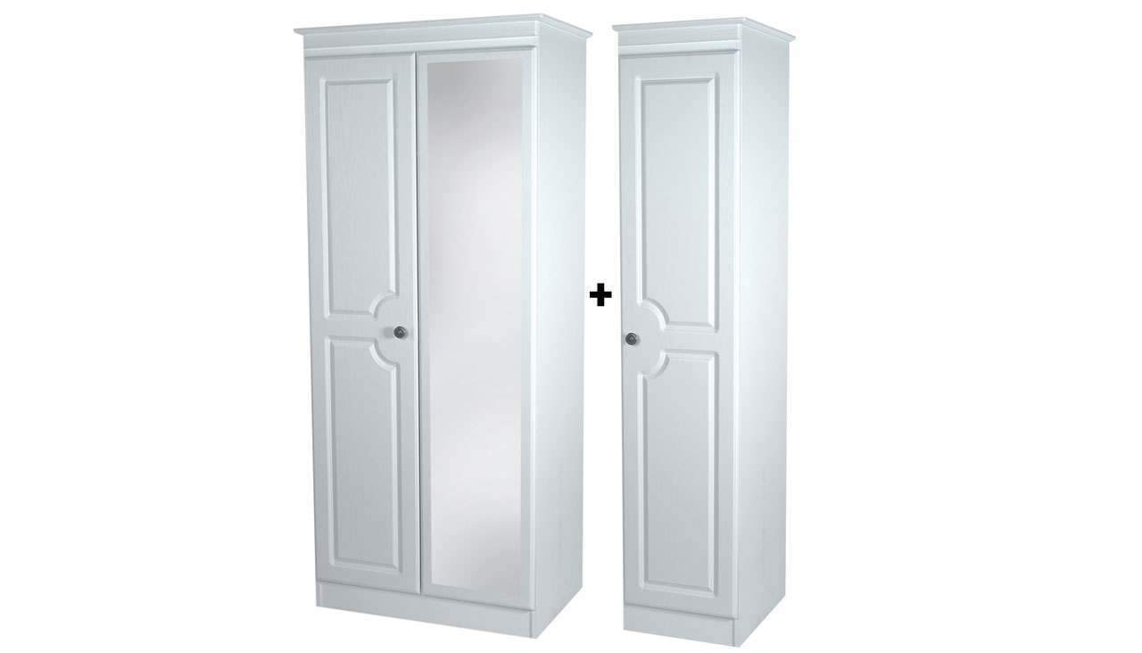 Pembroke Triple Mirror Wardrobe - AHF Furniture & Carpets