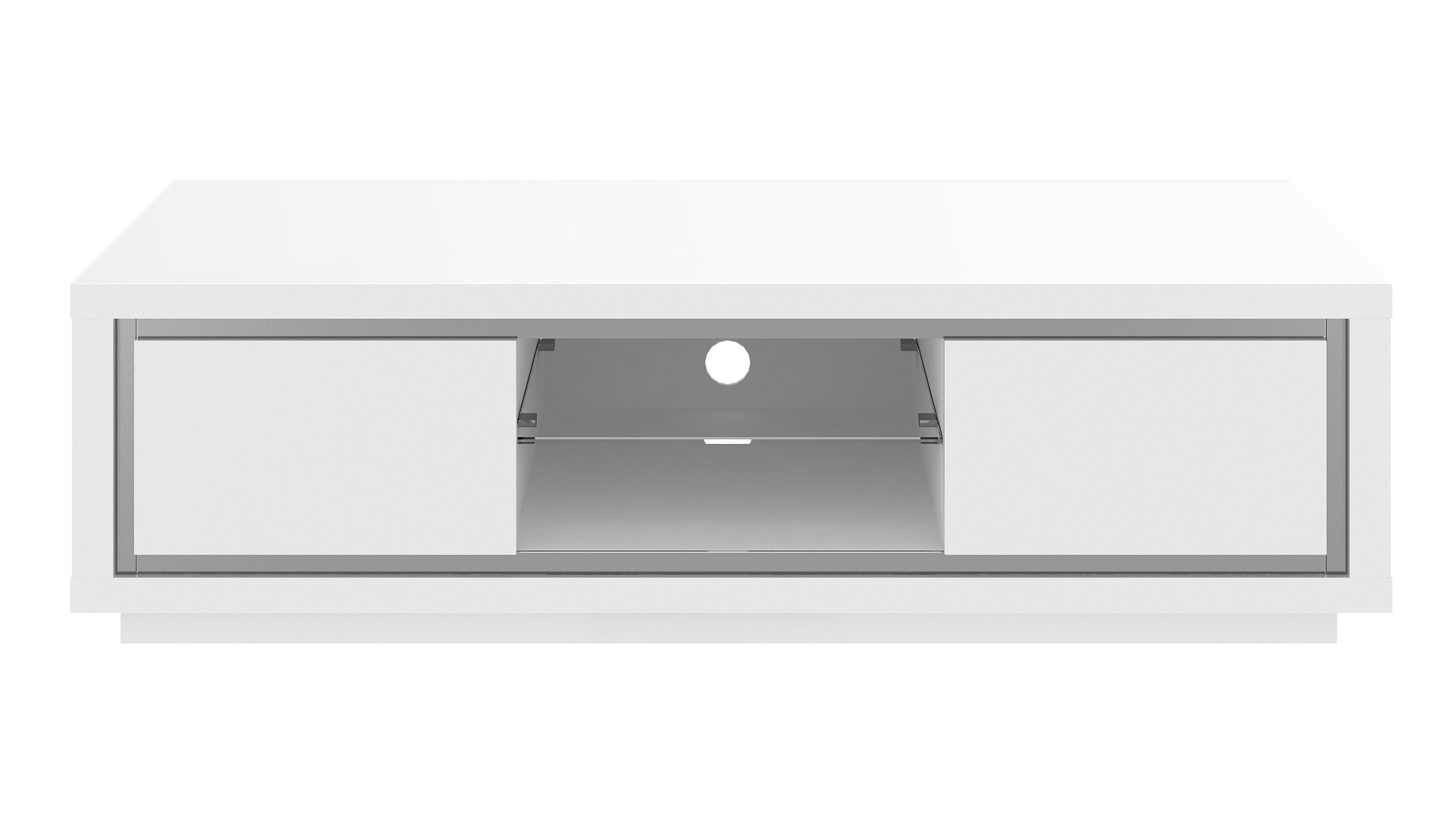 Kyoto White TV Unit with LED - AHF Furniture & Carpets