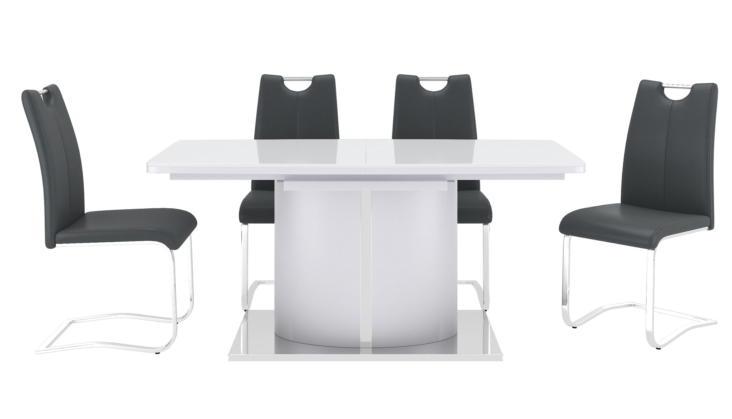 Osaka White Extending Dining Table with 4 Chairs - AHF Furniture & Carpets