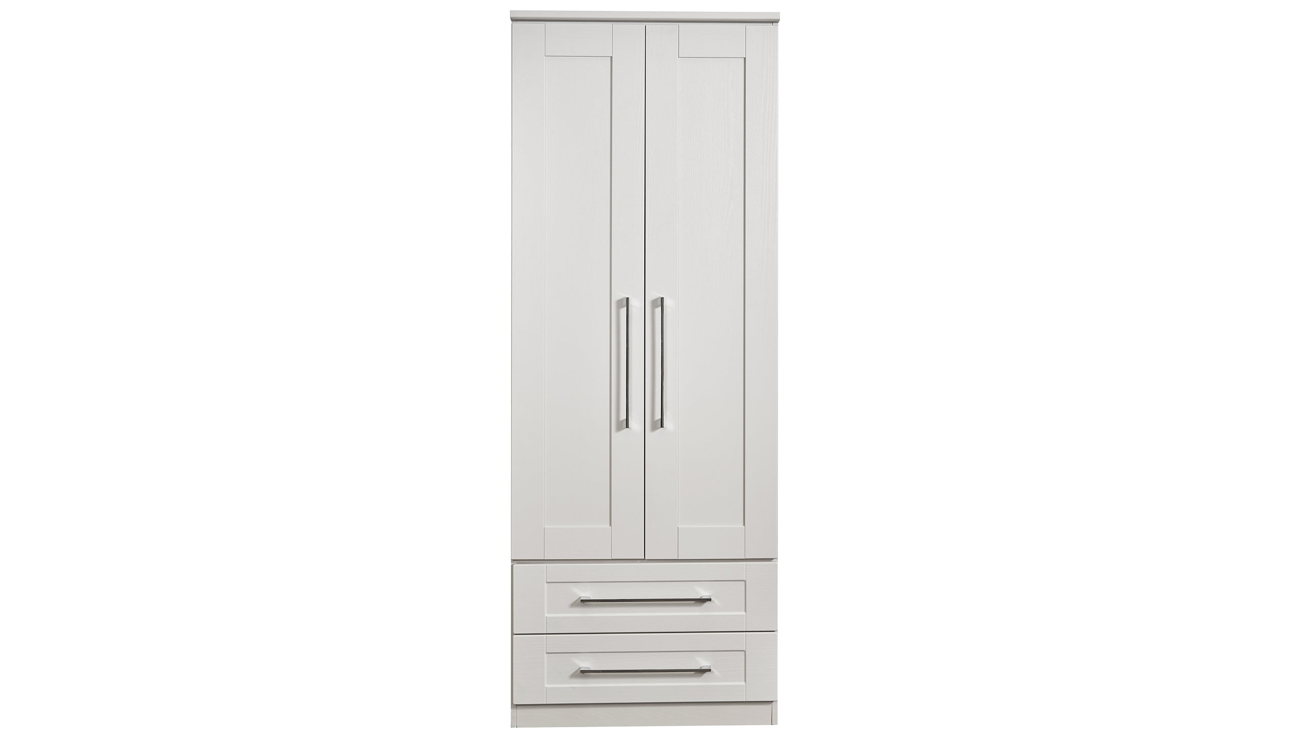 Porter Double 2 Drawer Wardrobe - AHF Furniture & Carpets