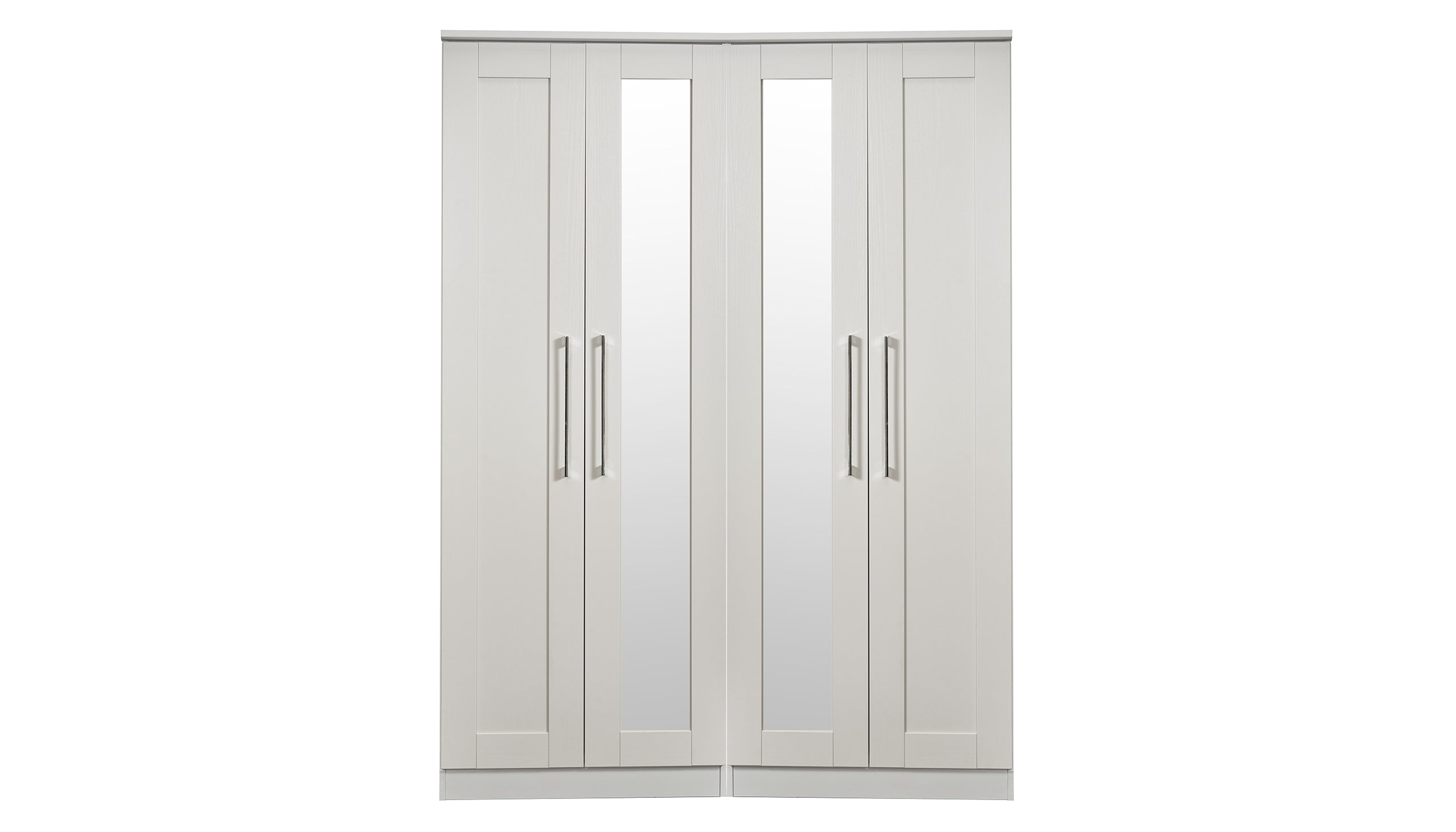 Porter 4 Door 2 Mirror Wardrobe - AHF Furniture & Carpets