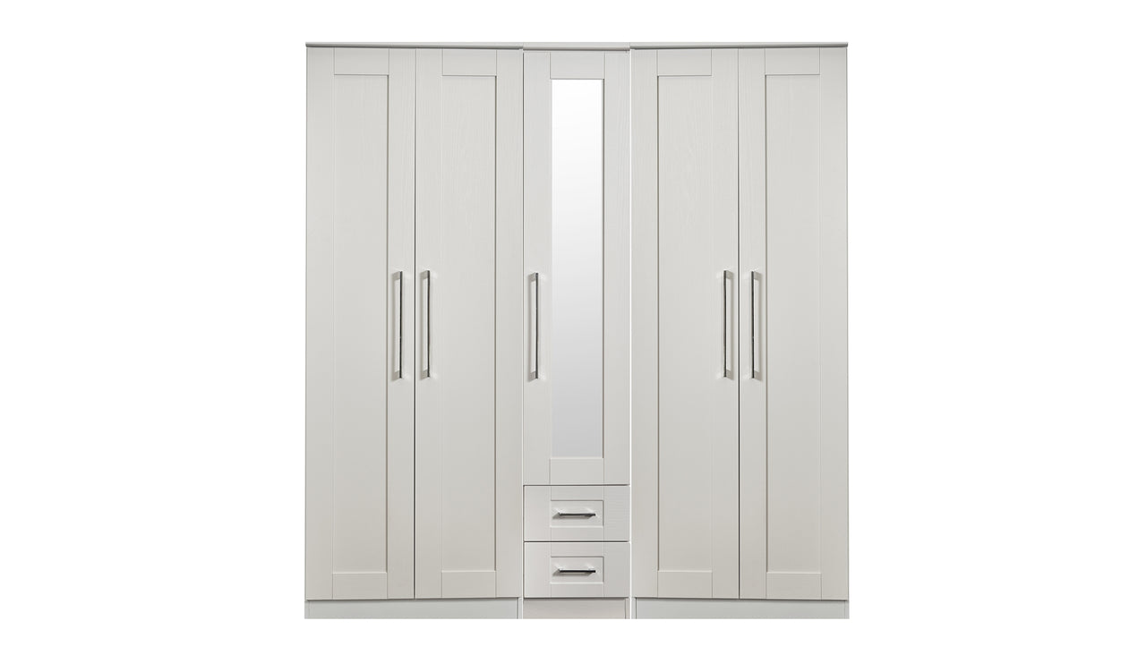 Porter 5 Door 2 Drawer 1 Mirror Wardrobe