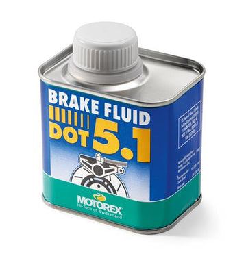 MOTOREX brake fluid DOT 5.1 in a 250 g bottle