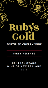 Two bottles of award-winning Ruby's Gold Fortified Cherry Wine - FreshFruit Ltd