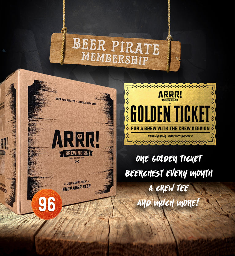 BEER PIRATE MEMBERSHIP START CHEST - ARRR! Brewing Co.