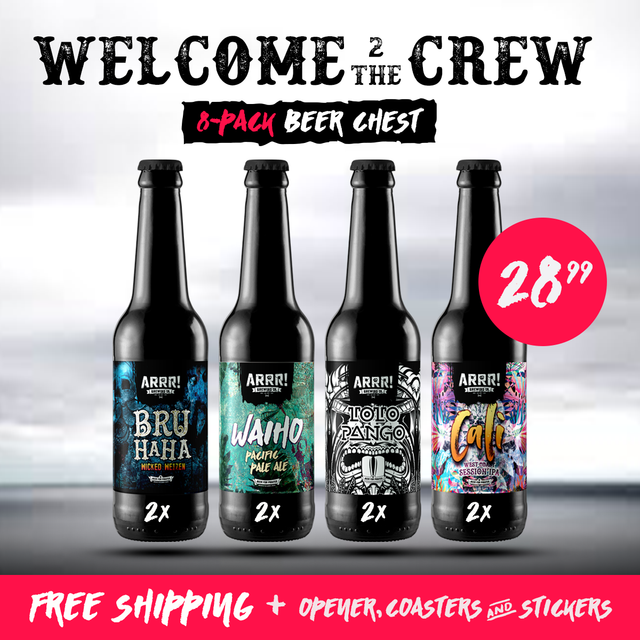 8-pack Welcome 2 the Crew Chest - ARRR! Brewing Co.