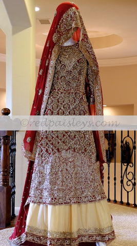 Red Gold Paki Sharara