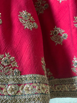 Dark red ivory Lehenga