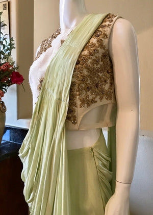 Mint Drape Saree