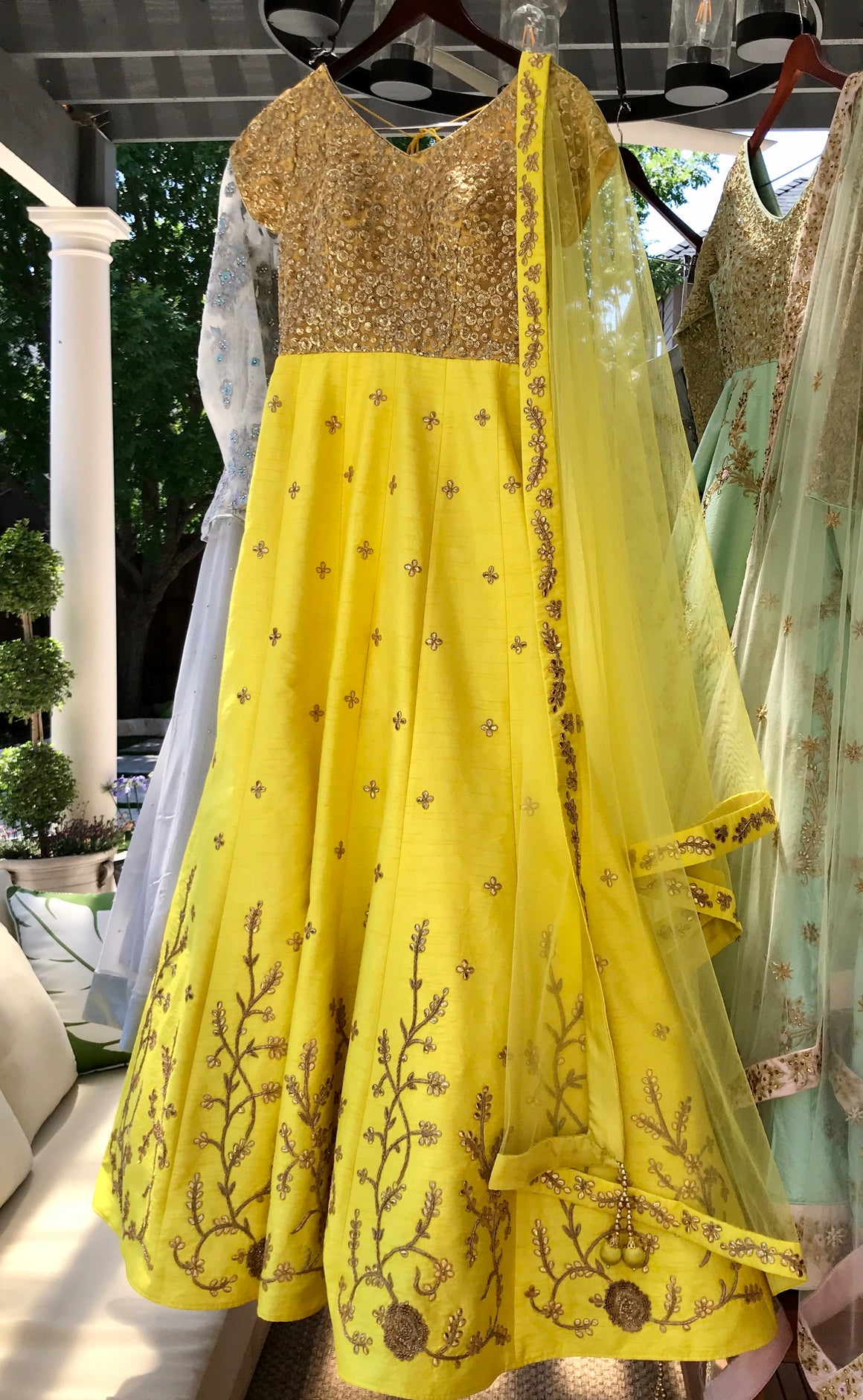 Yellow Gold Gota Gown