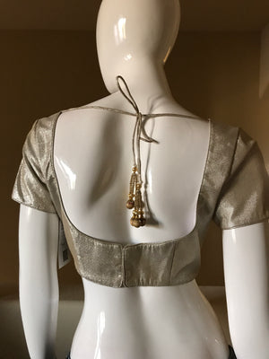 Antique silver gold blouse