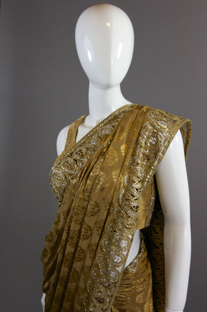 Antique Gold  Saree