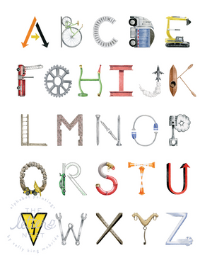 Construction Alphabet Print