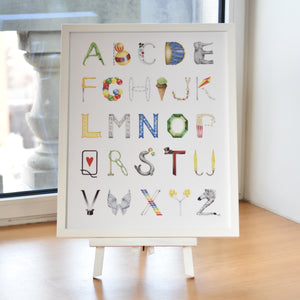 Circus Alphabet with White Frame