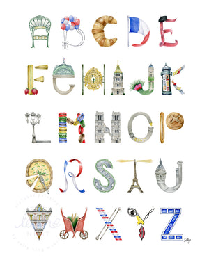 Paris Alphabet Print