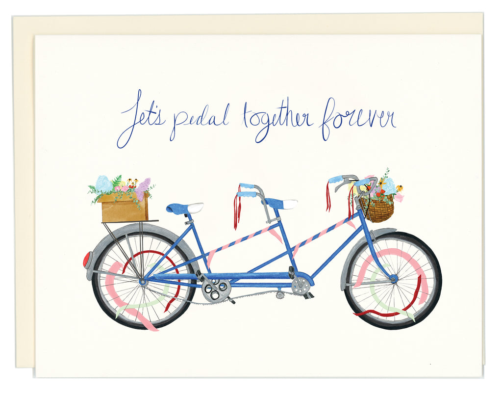 Let's pedal together forever