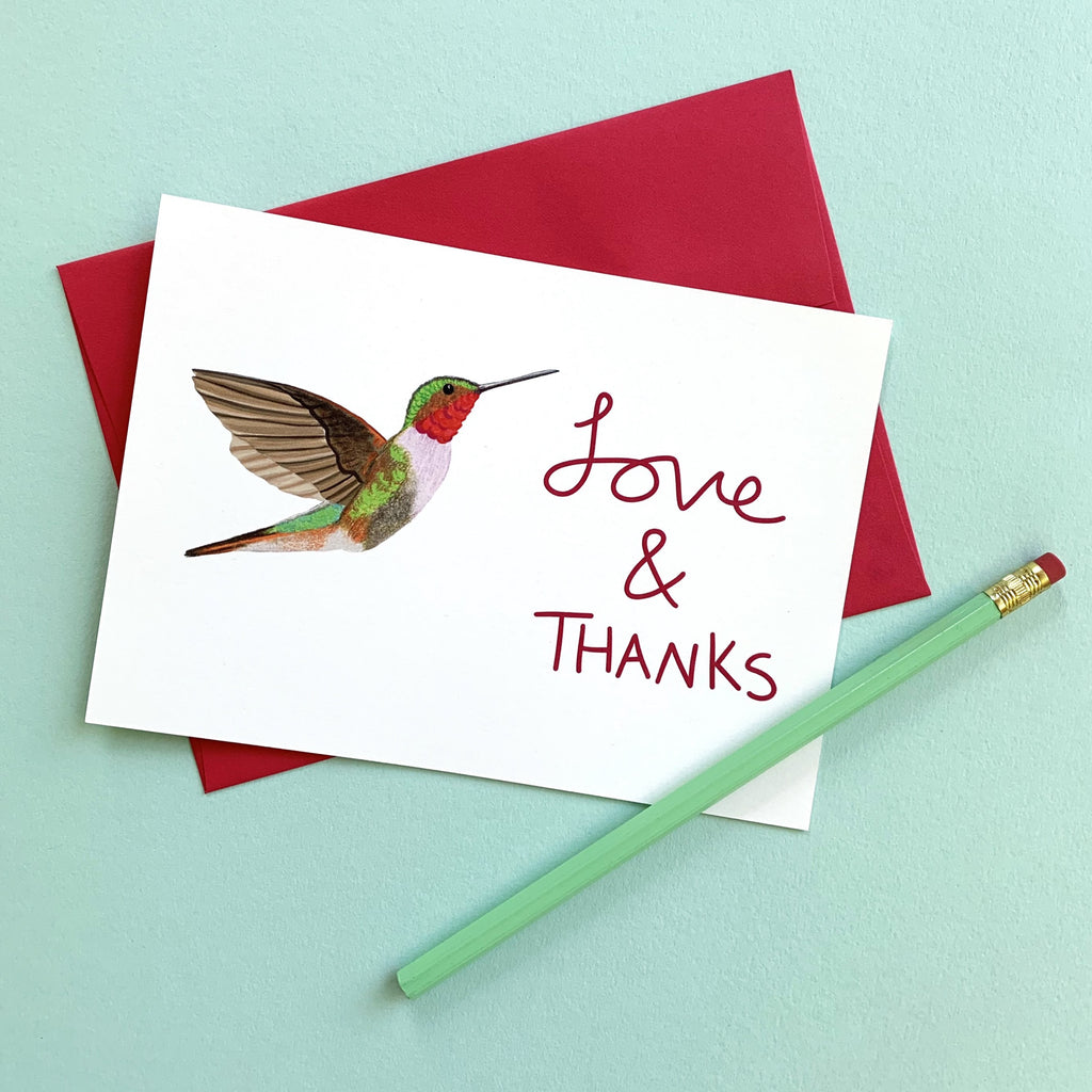 Love & Thanks!  Notecard
