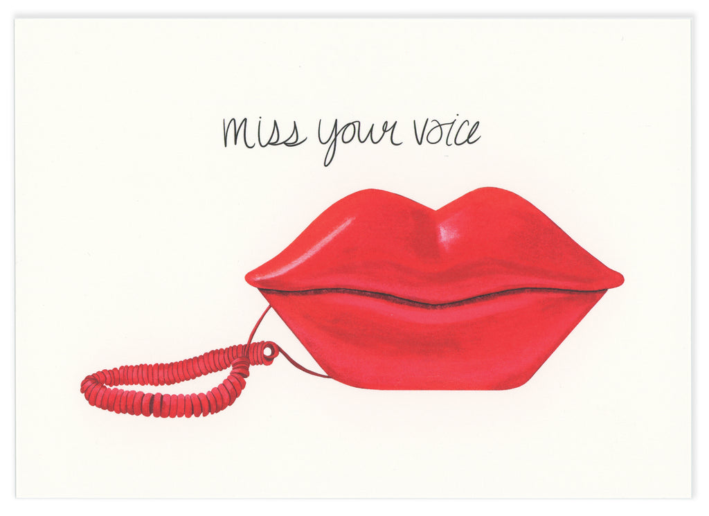 Miss your voice! Notecard